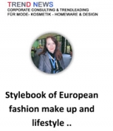 Stylebook of European fashion make up and lifestyle